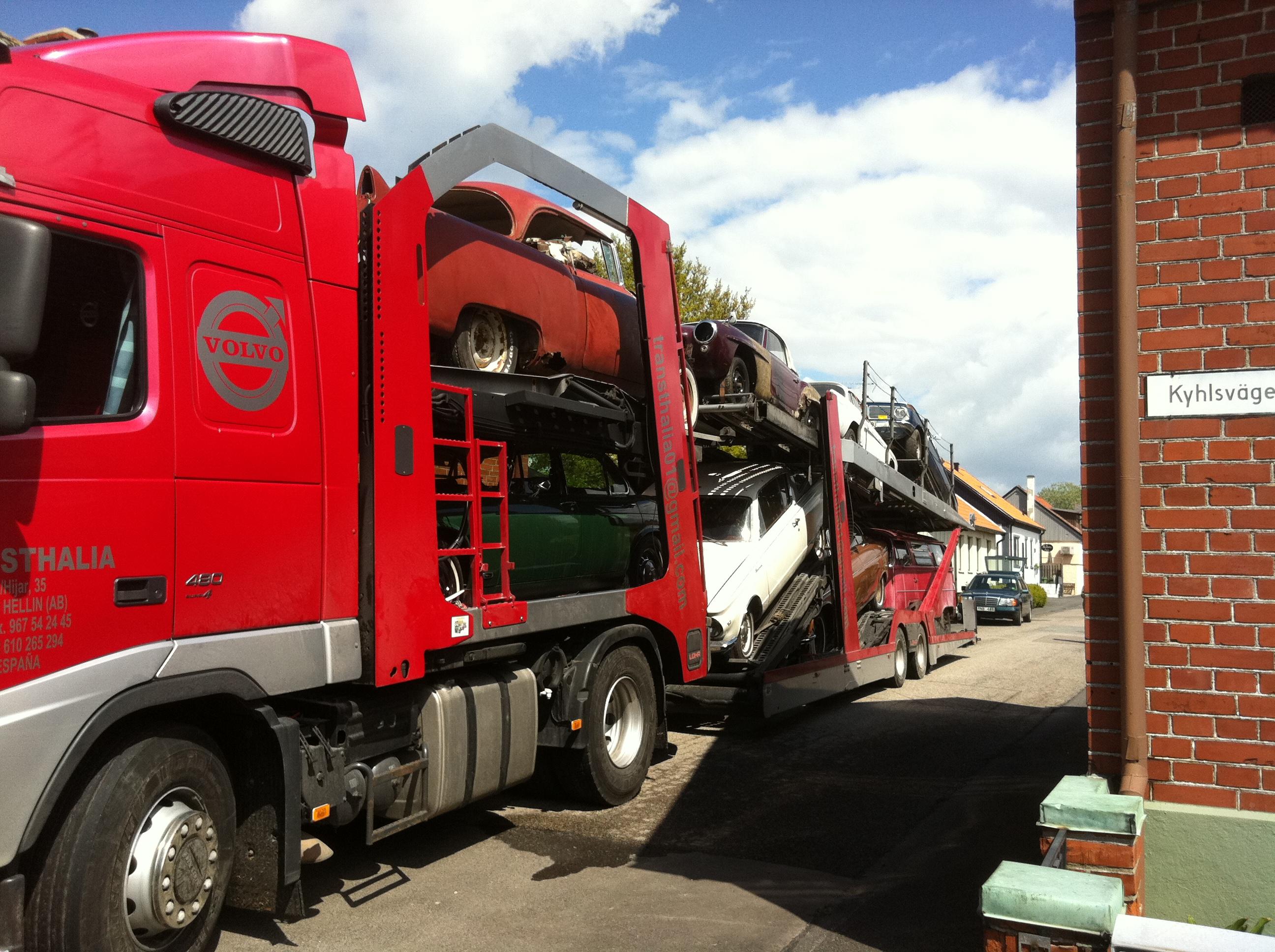 transporte de vehículos internacional
